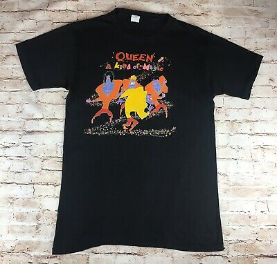 Queen - Genuine Official Vintage [A Kind Of Magic] T-shirt (1986) Rare • 119.99£