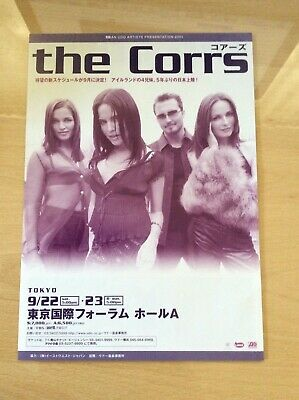 The Corrs - Original 2001 Double Sided Japanese Tour Flyer - Free Uk P&p • 14.99£