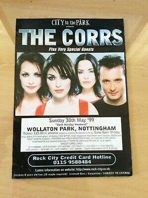 The Corrs - Orig 30th May 1999 Uk Flyer For 'talk On Corners World Tour'  • 4.99£