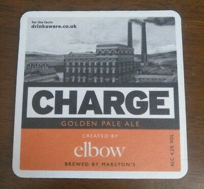 Elbow Charge Marstons Brewery Ale X2 Beer Mat Coaster Guy Garvey REALLY RARE  • 5.99£