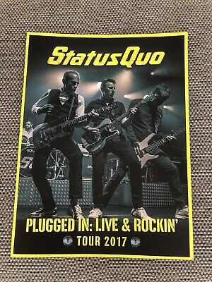 Status Quo Plugged In: Live & Rockin' 2017 Tour Programme • 19.99£