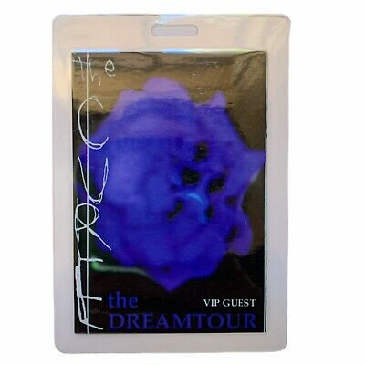 THE CURE Laminated The Dreamtour VIP Pass • 39.63£