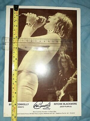 Brian Connolly The Sweet 10 X7 Promo Cards Hand Stamped By Brian Connolly. • 40£