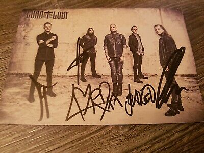Lord Of The Lost Handsigned Picture - Full Band - Genuine - Chris Harms #2 GOTH • 18£