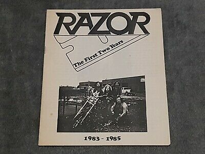 RAZOR The First Two Years - RARE 1985 Fanzine ARMED & DANGEROUS Evil Invaders • 19.99£