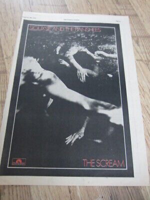 (-0-) SIOUXSIE AND THE BANSHEES THE SCREAM 36cm X 26cm PRESS POSTER ADVERT • 12£