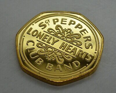 The Beatles. Sgt Pepper's Lonely Hearts Club Band. 50p Coin Collectors. Gold • 1.20£