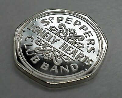 The Beatles. Sgt Pepper's Lonely Hearts Club Band. 50p Coin Collectors.silver • 1.25£