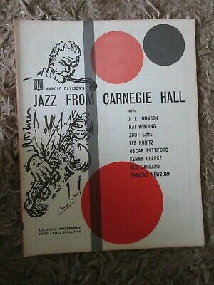 Jazz From Carnegie Hall Programme • 5£