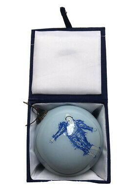 Hand Painted David Bowie Ashes To Ashes Bauble In Presentation Box Xmas Ornament • 0.99£