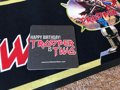 Iron Maiden -trooper Beer Is Two Extremely Rare Robinson Limited Beer Mat - New • 1.20£