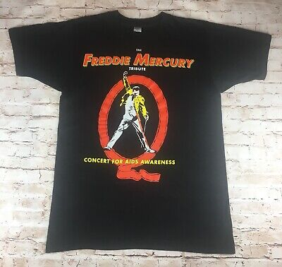 Freddie Mercury (Queen) Official Vintage Tribute Concert T-shirt - 1992 - Rare • 79.99£