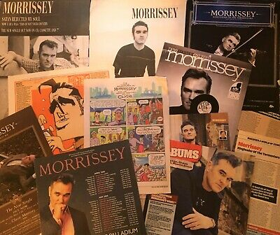 Morrissey The Smiths Approx 19 Pieces Magazine Cuttings & 8 Page Poster Pullout  • 14.99£