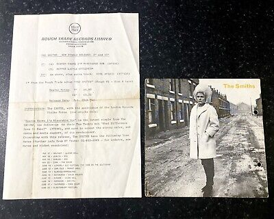 """Rare Original The Smiths Morrissey Press Release With Heaven Knows Promo 7"""" • 600£"""