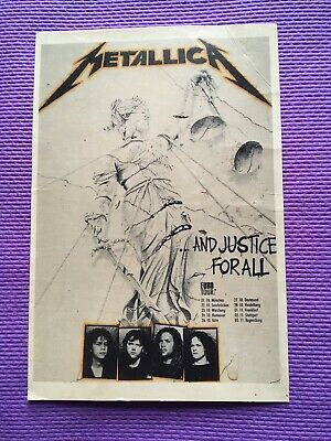 Vintage METALLICA And Justice For All Euro Tour POSTCARD 1989 -RARE • 5.99£