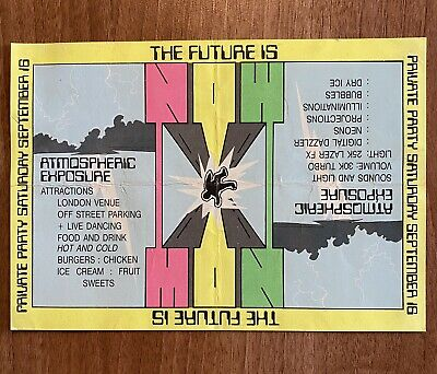 Rave Flyer The Future Is Now 16th September 1989 • 6.50£