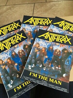 Anthrax. X 5 Postcards. Late Eighties. • 1£