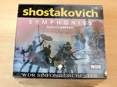 MINT & Sealed !! Dmitry Shostakovich Symphonies/1998 11x CD Set/Rudolf Barshai • 14.99£
