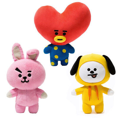 Hot KPOP BTS Plush Toy BT21 CHIMMY COOKY TATA Standing Doll 12Inch Toy Uk • 8.88£