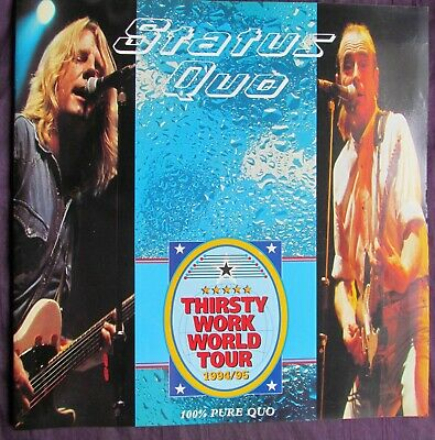Status Quo Tour Programme - Thirsty Work World Tour 1994/1995 - 32 Pages • 3.20£