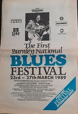 Ist Burnley Blues Festival Programme From 1989 (plus Flyer) • 4.99£