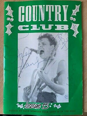Big Country Rare Vintage Fanclub Magazine #15 SIGNED BY ALL THE BAND • 29.99£