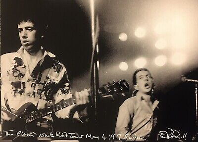 The Clash White Riot Tour Photo Of Joe Strummer And Mick Jones • 20£