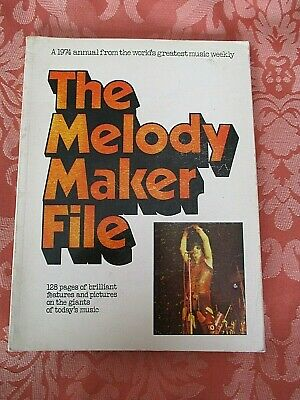 The Melody Maker Annual / File - 1974 Vintage S/b Book • 3£