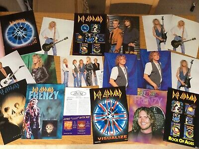 Def Leppard Authentic Fan Club Frenzy Magazines Rock Squad Collectable • 25£