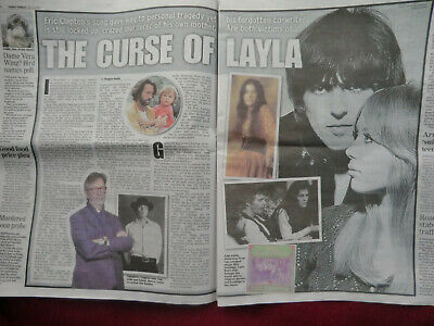 Eric Clapton Layla George Harrison Patti Boyd Cuttings/clippings Uk Papers 2020 • 4.99£