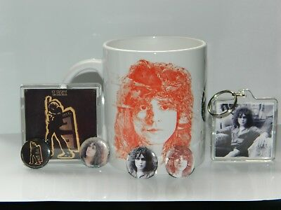 Marc Bolan / T.rex : Electric Warrior Mug /keyfob/magnet Set + 4 Free Badges • 7.50£