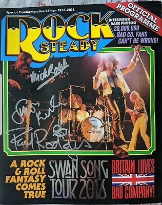 Bad Company Signed 2016 Swan Song Tour Programme, Commemorative Edition • 0.99£