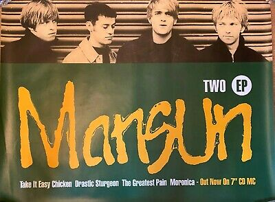 MANSUN Two EP 1996 ORIGINAL FLY POSTER *large* 40 X 30   / Take It Easy Chicken • 45£