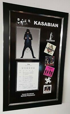 Serge Pizzorno Signed Photo Autographed Kasabian Picture Luxury Frame Display • 149£