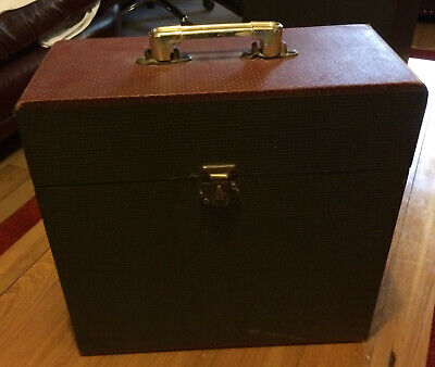 Vintage / Retro 12  Record Box Black With Red Top • 5£