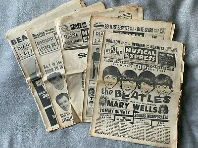 The Beatles X 5 1964 Editions Of NME New Musical Express Vintage Magazine • 5£