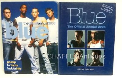 The Pop Band BLUE The Official 2003 & 2004 Annual FIRST EDITIONs With Rare Cover • 35£
