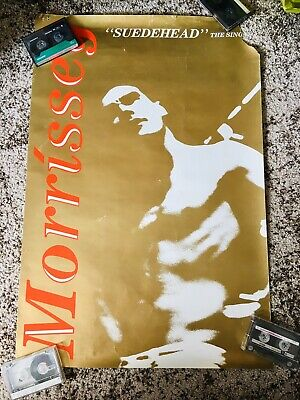 VERY RARE ORIGINAL MORRISSEY SUEDEHEAD SINGLE HMV POSTER 1988!! Ft. In Video. • 135£