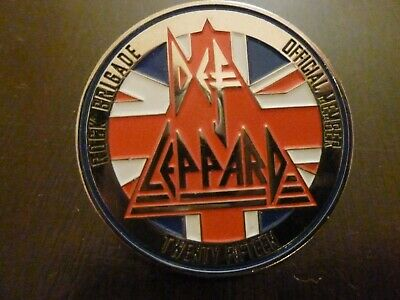 Def Leppard Rock Brigade Official Member 2015 Pin • 15.73£