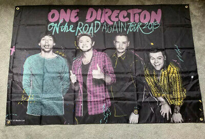One Direction On The Road Again Tour Flag RARE • 50£