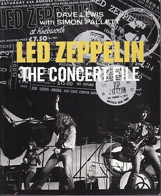 Led Zeppelin The Concert File Book Very Rare Updated Version Page Plant • 59.99£