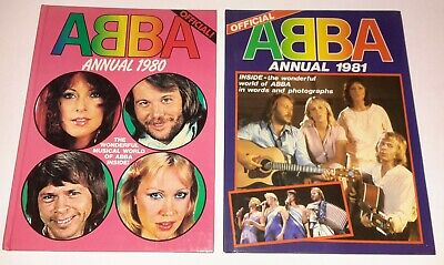 ABBA Set Of Six Vintage 1980s Annuals • 54.99£