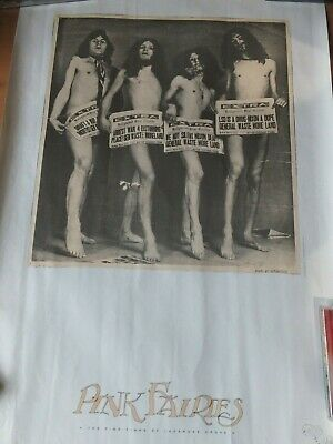 Pink Fairies Original Withdrawn Rare UK Concert Poster For 80s Gig 1970s Photo • 19.99£