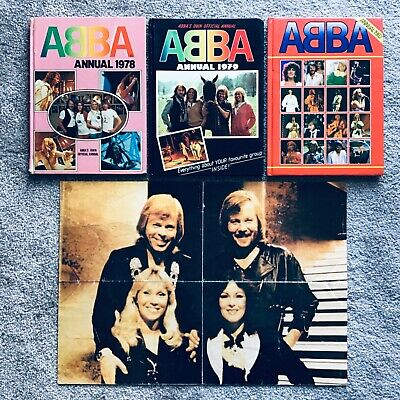 ABBA ANNUALS X 3 1978, 1979 & 1982 + Poster. • 8.99£