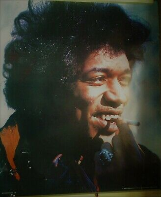 Rare Jimi Hendrix In Person Poster Sweden 30¾  X 26  Genuine Vintage U86 Smoking • 45£