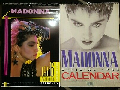 Madonna 1986 + 1988 Calendars Bundle - Vintage Collectible  • 39.99£