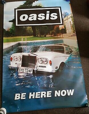 Oasis-be Here Now - Original 90s Promo Poster 5ft By 3.4ft Uk Post Only  • 45£