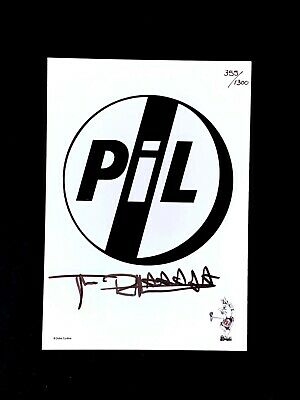John Lydon Johnny Rotten Sex Pistols Signed & Numbered Embossed Art Card PIL   • 60£