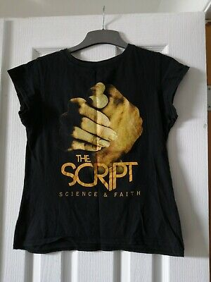 Women's The Script Science And Faith Tshirt Size M • 2.99£