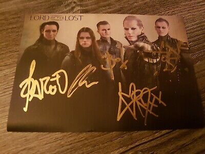 Lord Of The Lost Handsigned Picture - Full Band - Genuine - Chris Harms #3 GOTH • 18£